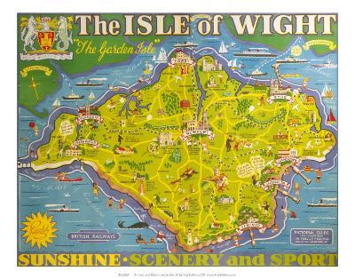 The Isle of Wight, BR, c.1949-Tom Smith-Art Print