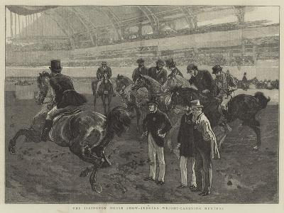 The Islington Horse Show, Judging Weight-Carrying Hunters-William Small-Giclee Print