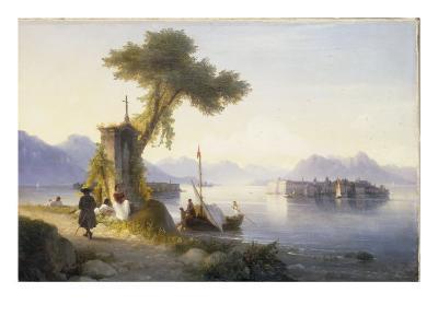 The Isola Bella on Lago Maggiore, 1843-Ivan Konstantinovich Aivazovsky-Giclee Print