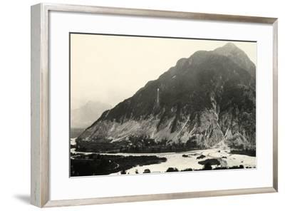 The Isonzo River and Mount Polienik in Slovenia During World War I-Ugo Ojetti-Framed Photographic Print