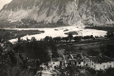 The Isonzo River at Zaga During World War I-Ugo Ojetti-Photographic Print