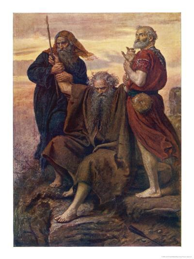 The Israelites are Enabled to Defeat the Amalekites Because Moses Arms are Held up by Aaron and Hur-John Everett Millais-Giclee Print