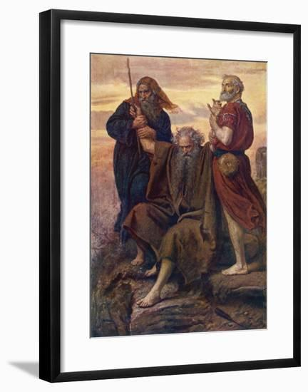 The Israelites are Enabled to Defeat the Amalekites Because Moses Arms are Held up by Aaron and Hur-John Everett Millais-Framed Giclee Print