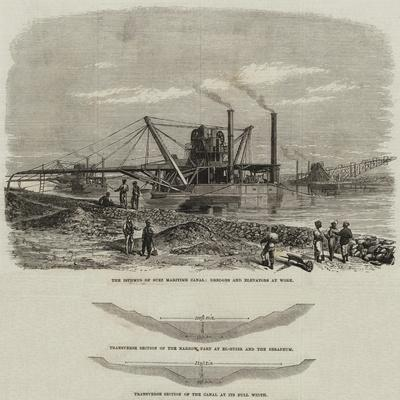 The Isthmus of Suez Maritime Canal--Giclee Print
