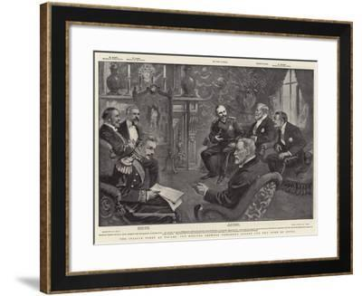 The Italian Fleet at Toulon, the Meeting Between President Loubet and the Duke of Genoa-William T. Maud-Framed Giclee Print