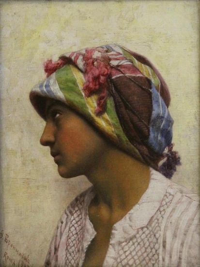 The Italian Girl, 1880-Feodor Andreyevich Bronnikov-Giclee Print