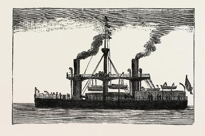 The Italian Ship Duilio, 1882--Giclee Print
