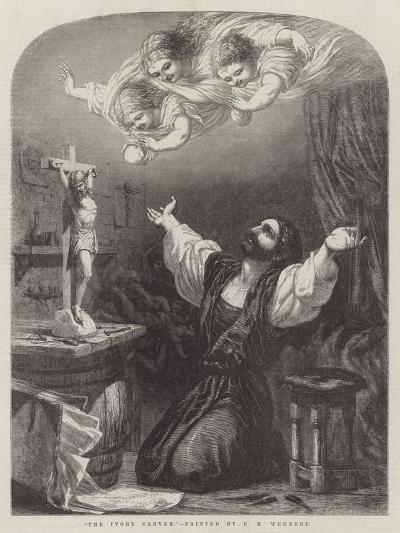 The Ivory Carver-Edward Henry Wehnert-Giclee Print