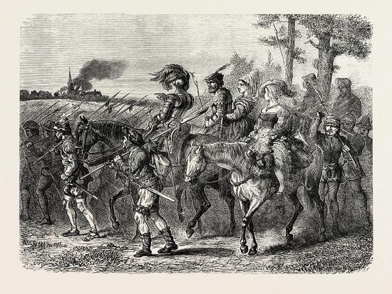 The Jacquerie: Company of Insurgent Peasants--Giclee Print