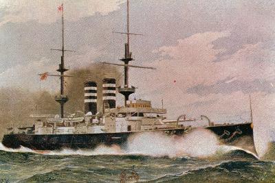 The Japanese Battleship Mikasa, Postcard--Giclee Print