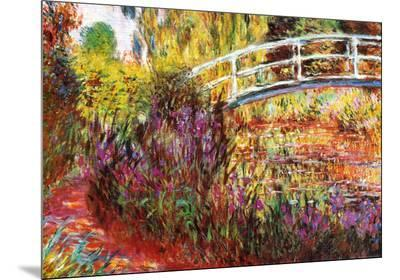 The Japanese Bridge-Claude Monet-Mounted Print