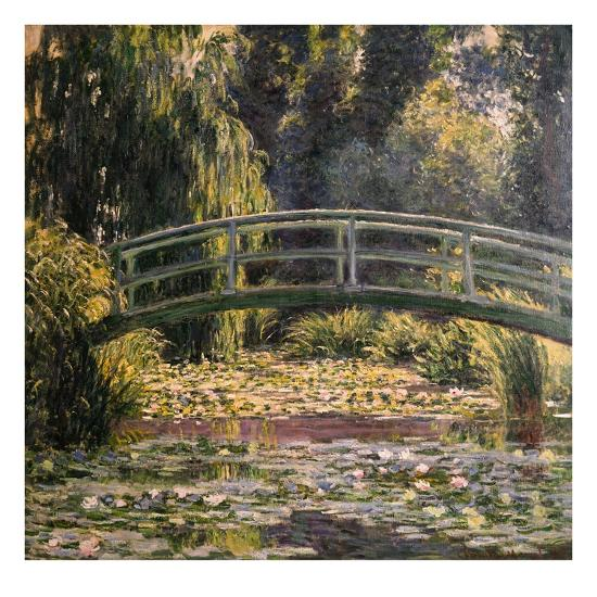 The Japanese Footbridge, Giverny-Claude Monet-Giclee Print