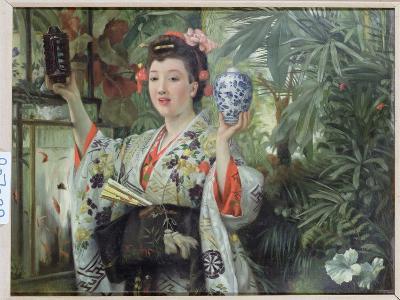 The Japanese Vase, C.1870-James Tissot-Giclee Print