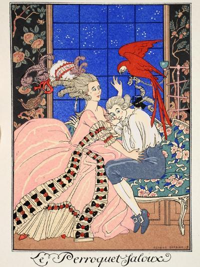 The Jealous Parrot, 1919-Georges Barbier-Giclee Print