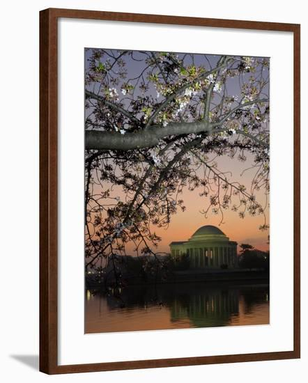 The Jefferson Memorial and Reflection on the Tidal Basin, at Dawn-Paul Sutherland-Framed Photographic Print