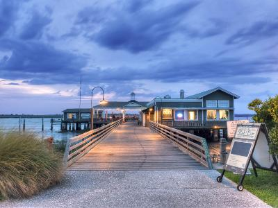 The Jekyll Wharf and Latitude 31 Restaurant, Jekyll Island, Georgia, USA-Rob Tilley-Photographic Print