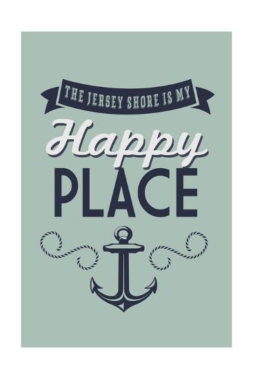 The Jersey Shore Is My Happy Place-Lantern Press-Art Print