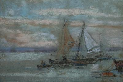The Jetty at Trouville-Eug?ne Boudin-Giclee Print