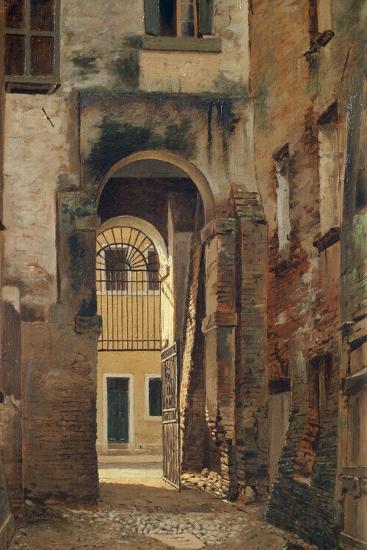 The Jewish Ghetto in Rovigo, by Giovanni Biasin--Giclee Print