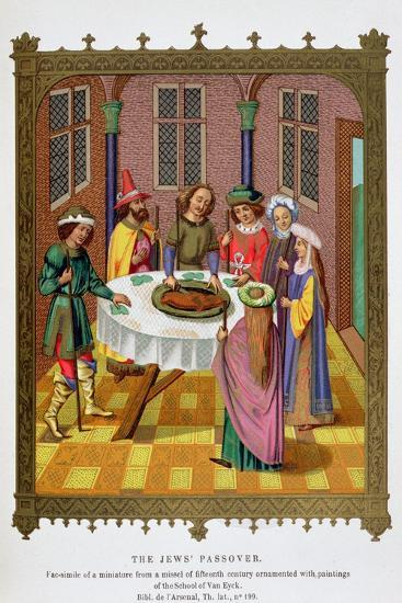'The Jews' Passover', 15th century-Unknown-Giclee Print