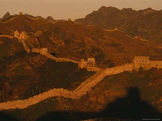 The Jinshaling Section of the Great Wall at the Beijing-Hebei Border-Raymond Gehman-Photographic Print