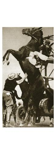 The Jockey Herbert Loses Control of His Horse at the Start of a Race in New York--Giclee Print