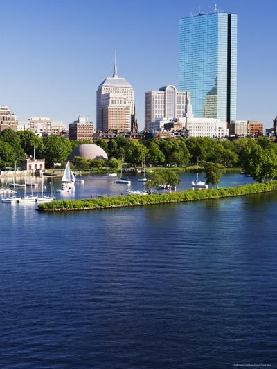 The John Hancock Tower and City Skyline Across the Charles River, Boston, Massachusetts, USA-Amanda Hall-Photographic Print
