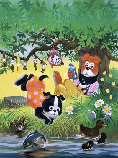The Jolly Dogs-Francis Phillipps-Giclee Print