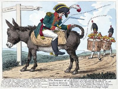 The Journey of a Modern Hero, to the Island of Elba, 1814--Giclee Print