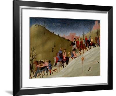 The Journey of the Magi, c.1433-5-Sassetta-Framed Giclee Print