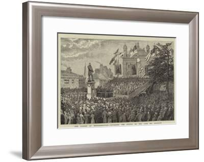 The Jubilee at Middlesbrough, Unveiling the Statue to the Late Mr Bolckow--Framed Giclee Print