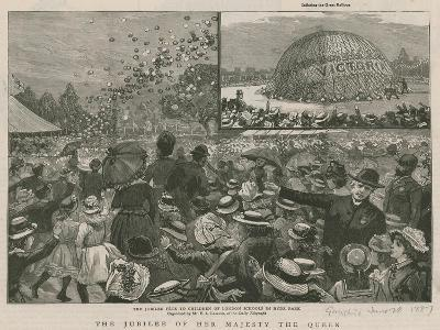 The Jubilee Fete to the Children of London Schools in Hyde Park--Giclee Print