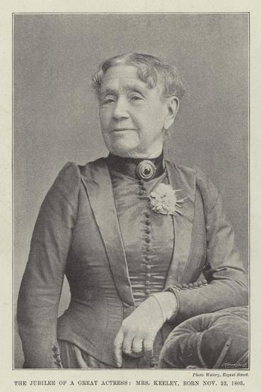 The Jubilee of a Great Actress, Mrs Keeley, Born 22 November 1805--Giclee Print