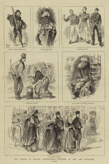 The Jubilee of Belgian Independence, Sketches of Life and Character--Giclee Print