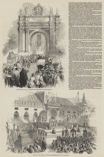 The Jubilee of St Sang at Bruges--Giclee Print