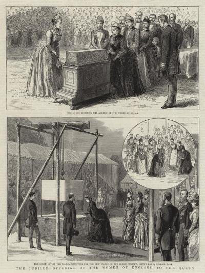 The Jubilee Offering of the Women of England to the Queen--Giclee Print