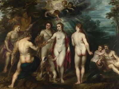 The Judgement of Paris, C. 1599-Peter Paul Rubens-Giclee Print
