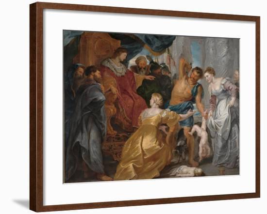 The Judgement of Solomon, C. 1617-Peter Paul Rubens-Framed Giclee Print