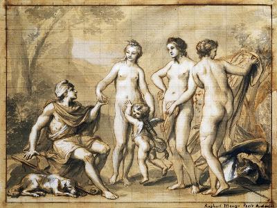 The Judgment of Paris-Anton Raphael Mengs-Giclee Print