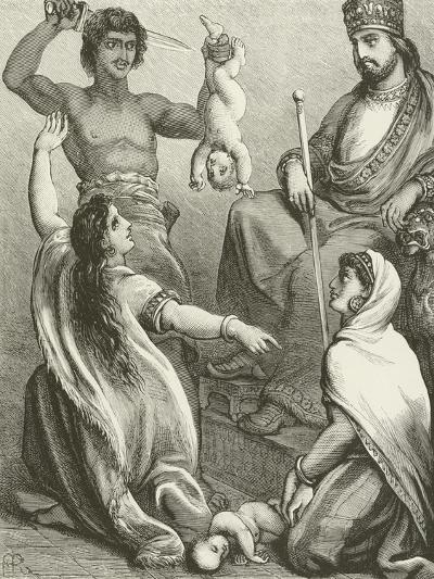 The Judgment of Solomon--Giclee Print
