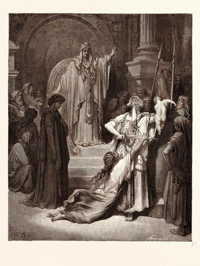 The Judgment of Solomon-Gustave Dore-Giclee Print