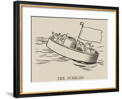 The Jumblies the Jumblies Go to Sea in a Sieve on a Stormy Day--Framed Giclee Print