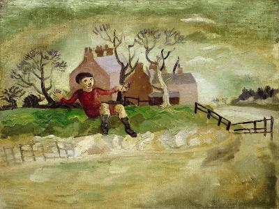 The Jumping Boy, Arundel, West Sussex, 1929-Christopher Wood-Giclee Print