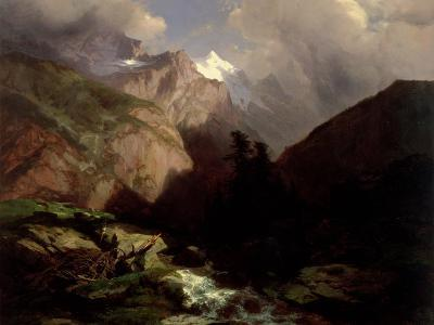 The Jungfrau, Switzerland-Alexandre Calame-Giclee Print