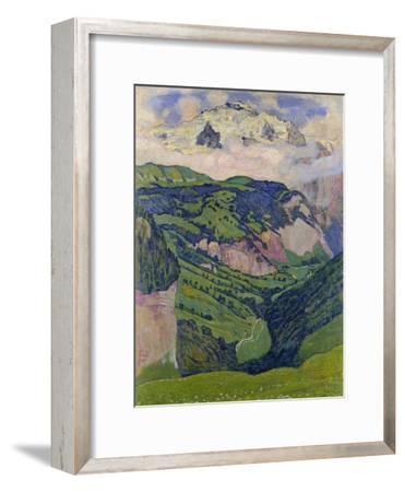 The Jungfrau, View from the Isenfluh, 1902-Ferdinand Hodler-Framed Giclee Print