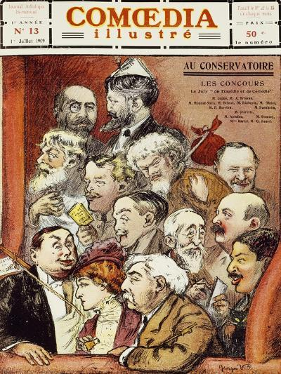 The Jury for Competition at the Conservatory--Giclee Print