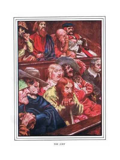 The Jury-John Byam Liston Shaw-Giclee Print