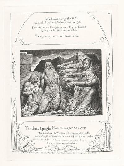 The Just Upright Man Is Laughed to Scorn, 1825-William Blake-Giclee Print