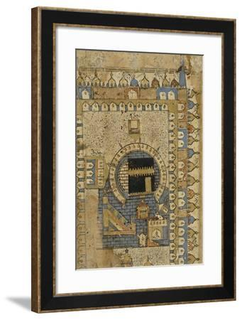 The Kaaba, Muhammad's Tomb in Mecca from an Account of a Pilgrimage to Mecca--Framed Giclee Print