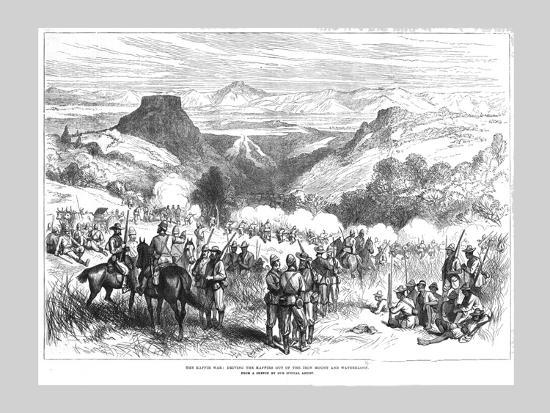 'The Kaffir War - Driving the Kaffirs out of the Iron Mount and Waterkloof', 1878-Unknown-Giclee Print